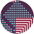 rug #1296815 | round red check rug