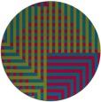 rug #1296819 | round blue-green check rug