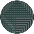 rug #1296831 | round green check rug
