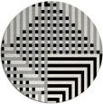 rug #1296847 | round black graphic rug