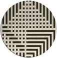 rug #1296886 | round check rug