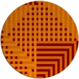 rug #1296911 | round red-orange check rug