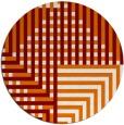 rug #1296915 | round orange check rug