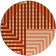 rug #1296919 | round beige check rug