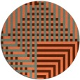 rug #1296923 | round orange retro rug