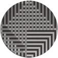 rug #1296923 | round red-orange stripes rug