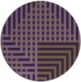 rug #1296951 | round purple retro rug