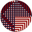 rug #1296959 | round red check rug