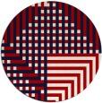 rug #1296959 | round red retro rug