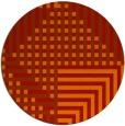 rug #1296963 | round orange check rug