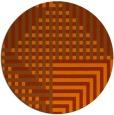 rug #1296975 | round red-orange retro rug
