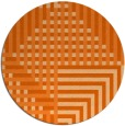 rug #1296979 | round red-orange check rug