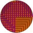 rug #1296983 | round red-orange check rug