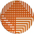rug #1296987 | round red-orange check rug