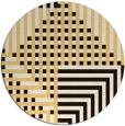 rug #1297003 | round brown check rug