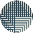 rug #1297011   round white check rug
