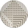 rug #1297015 | round beige retro rug