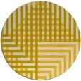 rug #1297019 | round yellow check rug