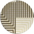 rug #1297023 | round yellow check rug