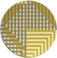 rug #1297027 | round yellow check rug