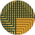 rug #1297031 | round yellow check rug