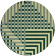 rug #1297035 | round yellow check rug