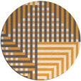 rug #1297063 | round light-orange check rug