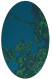 rug #1297867 | oval blue-green abstract rug