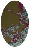 rug #1297915 | oval mid-brown rug