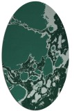 rug #1297939 | oval blue-green abstract rug