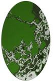 rug #1297947   oval light-green abstract rug