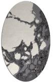 rug #1298095 | oval white abstract rug