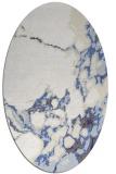rug #1298103 | oval white abstract rug