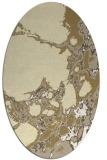 rug #1298127   oval yellow abstract rug