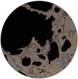 rug #1298547 | round black abstract rug