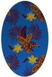 rug #1299675 | oval blue rug