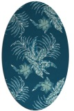 rug #1299695 | oval blue-green rug