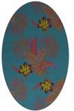 rug #1299723 | oval blue-green natural rug