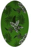 rug #1299787 | oval light-green rug