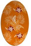 rug #1299859   oval orange natural rug