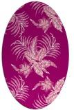 rug #1299871 | oval pink natural rug