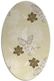 rug #1299967 | oval white natural rug