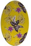 rug #1299971 | oval yellow natural rug