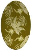 rug #1299983 | oval light-green popular rug