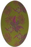 rug #1299991 | oval pink natural rug