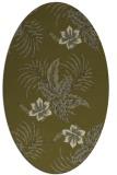 rug #1299995 | oval light-green rug