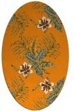 rug #1300003   oval light-orange popular rug