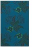 rug #1300075 |  blue-green natural rug