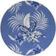 rug #1300427 | round blue rug