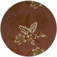 rug #1300531 | round mid-brown natural rug